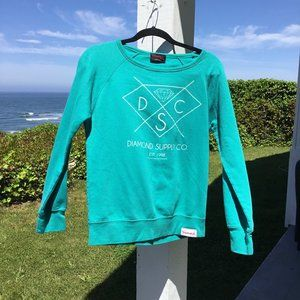 DIAMOND SUPPLY COMPANY Blue Pullover Sweatshirt